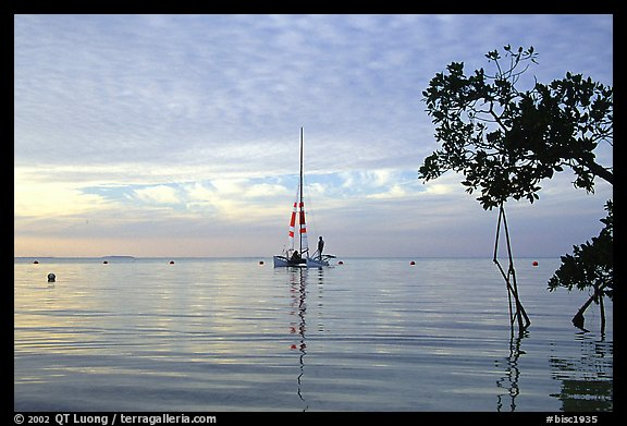 Sailing in Biscayne Bay. Biscayne National Park, Florida, USA.