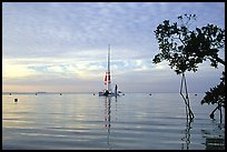 Sailing in Biscayne Bay. Biscayne National Park, Florida, USA. (color)
