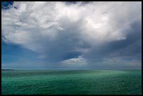 Storm cloud over ocean. Biscayne National Park ( color)