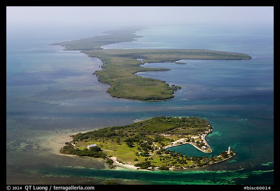 Aerial view of Boca Chita Key and Sands Key. Biscayne National Park (color)