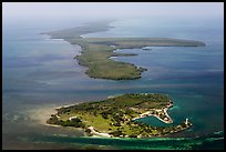 Aerial view of Boca Chita Key and Sands Key. Biscayne National Park ( color)