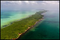 Aerial view of Biscayne Bay, Elliott Key, and Hawk Channel. Biscayne National Park ( color)