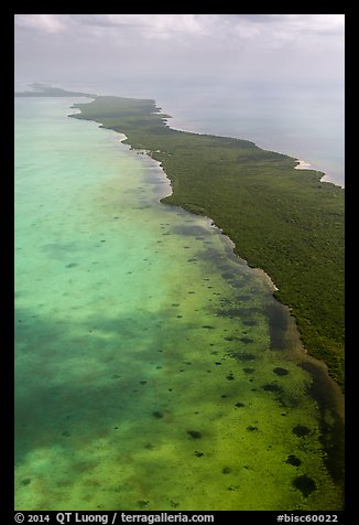 Aerial view of Biscayne Bay and Elliott Key. Biscayne National Park (color)