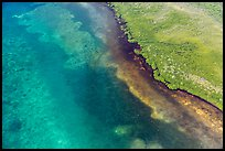 Aerial view of reef and shoreline. Biscayne National Park ( color)