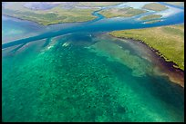 Aerial view of Ceasar Creek Bank. Biscayne National Park ( color)
