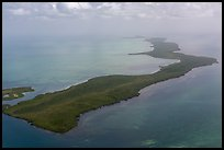 Aerial view of barrier island keys. Biscayne National Park ( color)