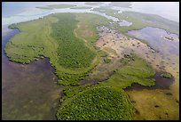 Aerial view of Totten Key and Jones Lagoon. Biscayne National Park ( color)