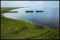 Aerial view of mangrove coast in islets. Biscayne National Park ( color)