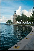 Harbor and lighthouse, Boca Chita Key. Biscayne National Park ( color)