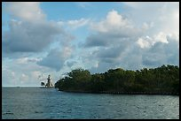 Vegetation and lighthouse, Boca Chita Key. Biscayne National Park ( color)