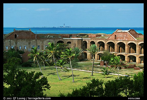 Inside Fort Jefferson. Dry Tortugas National Park (color)