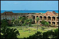 Inside Fort Jefferson. Dry Tortugas National Park, Florida, USA. (color)