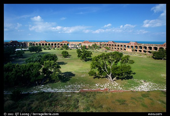 Parade grounds of Fort Jefferson. Dry Tortugas National Park (color)
