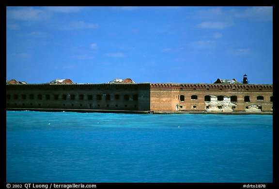 Fort Jefferson seen from ocean. Dry Tortugas National Park, Florida, USA.
