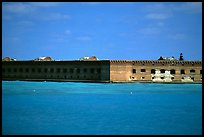 Fort Jefferson seen from ocean. Dry Tortugas National Park, Florida, USA. (color)