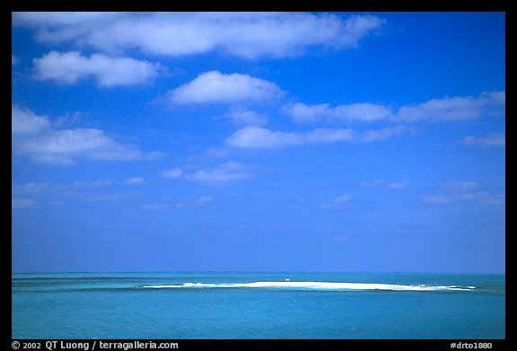 Hospital Key barely emerging from Ocean. Dry Tortugas National Park (color)