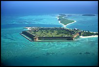 Aerial view of Garden, Bush, and Long Keys. Dry Tortugas National Park ( color)