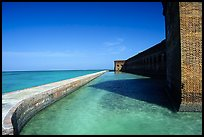 Fort Jefferson moat and seawall. Dry Tortugas National Park, Florida, USA.
