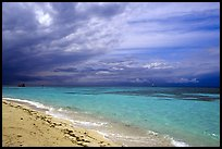 Beach and turquoise waters, Garden Key. Dry Tortugas National Park, Florida, USA.