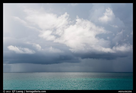 Storm clouds above ocean. Dry Tortugas National Park (color)