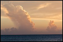 Tropical clouds at sunset. Dry Tortugas National Park ( color)