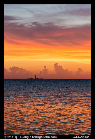 Colorful sunset over Loggerhead Key. Dry Tortugas National Park (color)