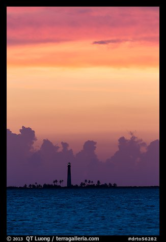 Loggerhead Key lighthouse at sunset. Dry Tortugas National Park (color)