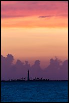 Loggerhead Key lighthouse at sunset. Dry Tortugas National Park ( color)