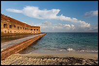 North Beach and Fort Jefferson, early morning. Dry Tortugas National Park ( color)