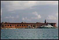 Fort Jefferson from water. Dry Tortugas National Park, Florida, USA. (color)