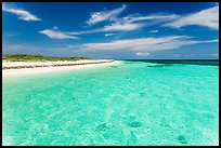 Clear turquoise waters and beach, Loggerhead Key. Dry Tortugas National Park, Florida, USA. (color)