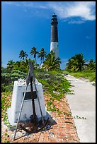 Memorail and Loggerhead Light. Dry Tortugas National Park, Florida, USA. (color)