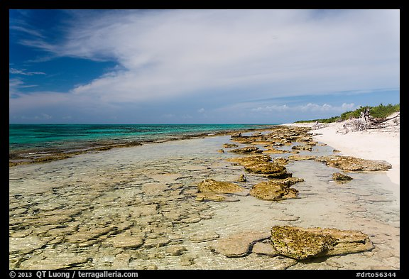Beach and reef, Loggerhead Key. Dry Tortugas National Park (color)