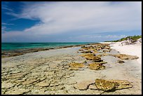 Beach and reef, Loggerhead Key. Dry Tortugas National Park ( color)