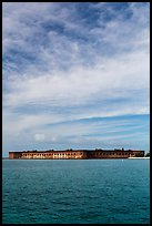 Fort Jefferson and cloud above Gulf waters. Dry Tortugas National Park ( color)