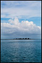 Long Key and cloud. Dry Tortugas National Park, Florida, USA. (color)