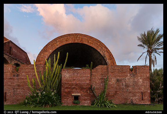 Powder magazine at sunset. Dry Tortugas National Park (color)
