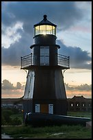 Harbor Light and gun at sunset. Dry Tortugas National Park ( color)