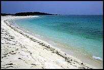 Beach on Bush Key. Dry Tortugas  National Park, Florida, USA.