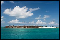 Fort Jefferson and Garden Key from the West. Dry Tortugas National Park, Florida, USA. (color)