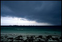 Approaching storm over Yachts at Tortugas anchorage. Dry Tortugas National Park ( color)