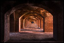 Gallery illuminated by last light inside Fort Jefferson. Dry Tortugas National Park ( color)