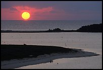 Sunrise over Long Key and Atlantic Ocean. Dry Tortugas National Park, Florida, USA. (color)