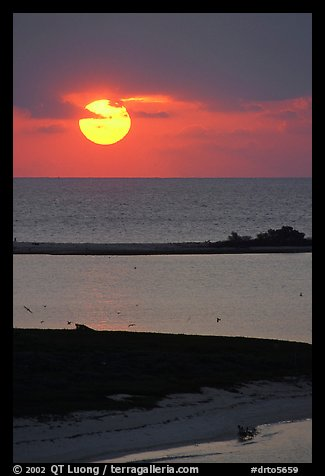 Sun rising over Long Key. Dry Tortugas National Park (color)