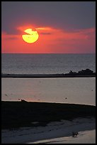 Sun rising over Long Key. Dry Tortugas National Park, Florida, USA.