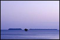 Florida Bay and Mangrove islands, dusk. Everglades National Park ( color)