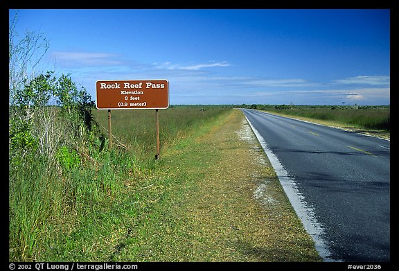 Rock Reef Pass, elevation 3 feet. Everglades National Park (color)