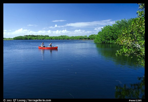 Canoists fishing. Everglades National Park (color)