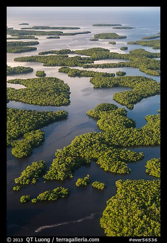 Aerial view of Ten Thousand Islands. Everglades National Park (color)