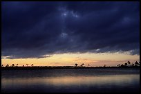 Stormy sunset over Pine Glades Lake. Everglades  National Park, Florida, USA.